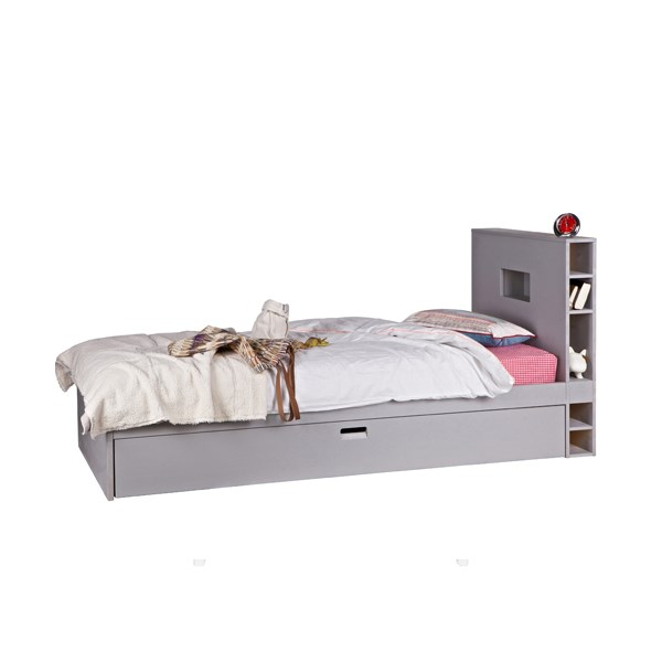 Contemporary Kids Trundle Bed with Storage