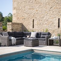 LODSWORTH OUTDOOR CORNER SOFA SET in Rattan