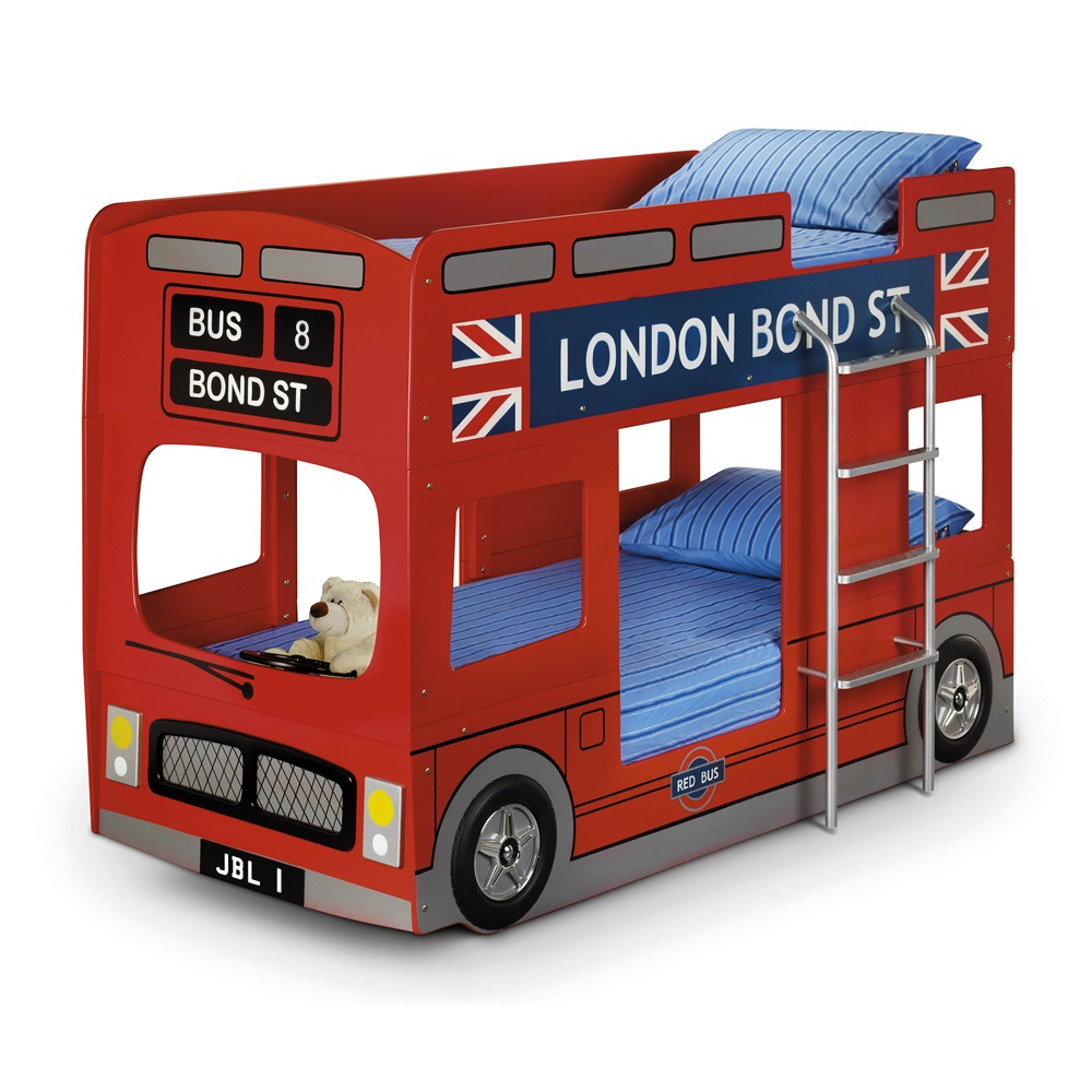 Kids London Bus Bunk Bed
