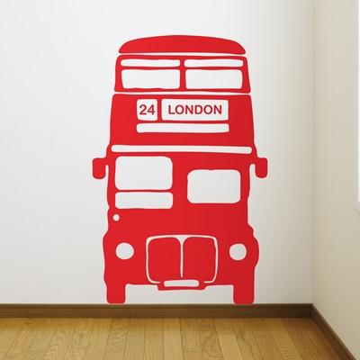 LONDON DOUBLE DECKER Red Bus Wall Sticker