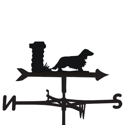 WEATHERVANE in Long Haired Dachshund Design