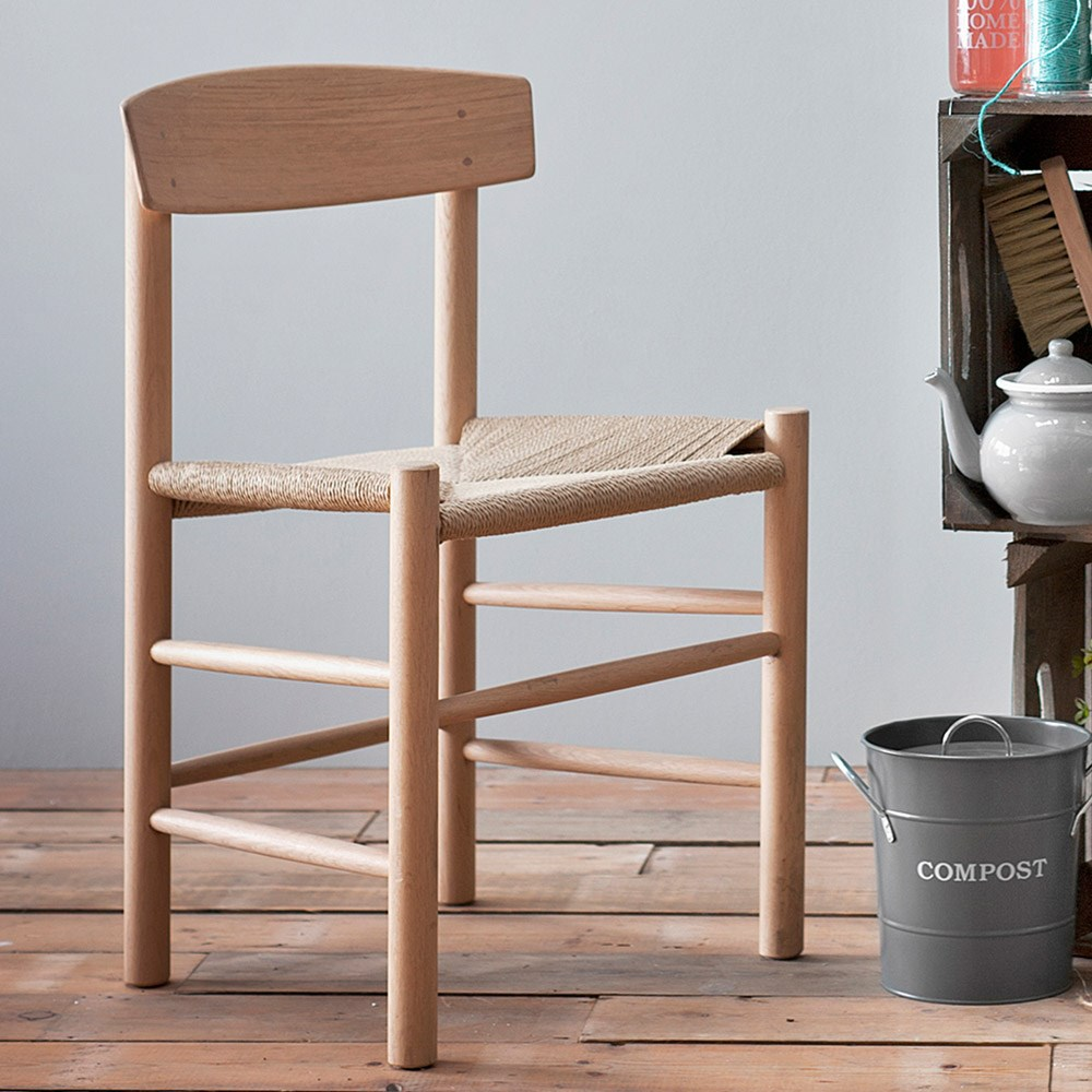 Garden Trading Longworth Wooden Chair With Woven Seat Garden