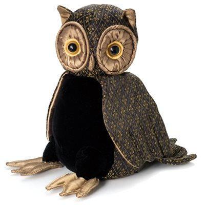 LORD OLIVER WISE OWL JUNIOR Bird Animal Paperweight by Dora Designs