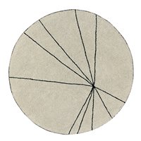 Product photograph showing Lorena Canals Washable Trace Round Rug - Vintage Nude