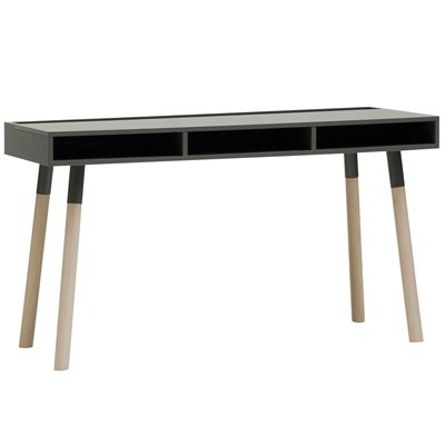 Vox Lori Desk with Storage in Graphite