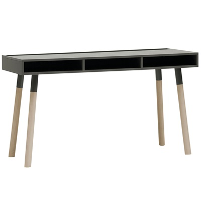 LORI DESK WITH STORAGE in Graphite