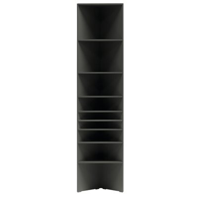 LORI TALL NARROW CORNER BOOKCASE in Graphite