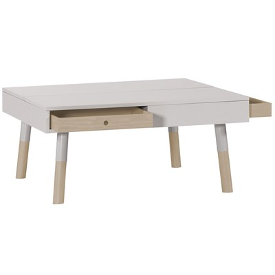 Exceptional ... Lori Cream Coffee Table With Drawers
