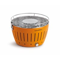 Product photograph showing Lotus Grill Bbq In Orange With Free Fire Lighter Gel Charcoal