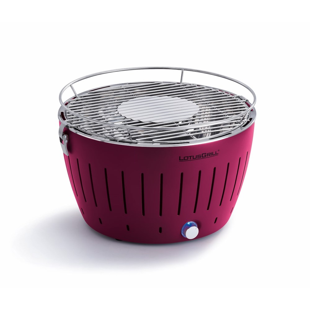 Lotus Bbq Grill In Plum Purple Free Lighter Gel Charcoal Carry