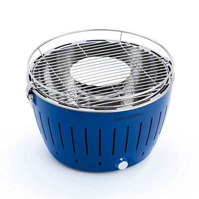 Lotus Grill BBQ in Blue with Free Fire Lighter Gel & Charcoal