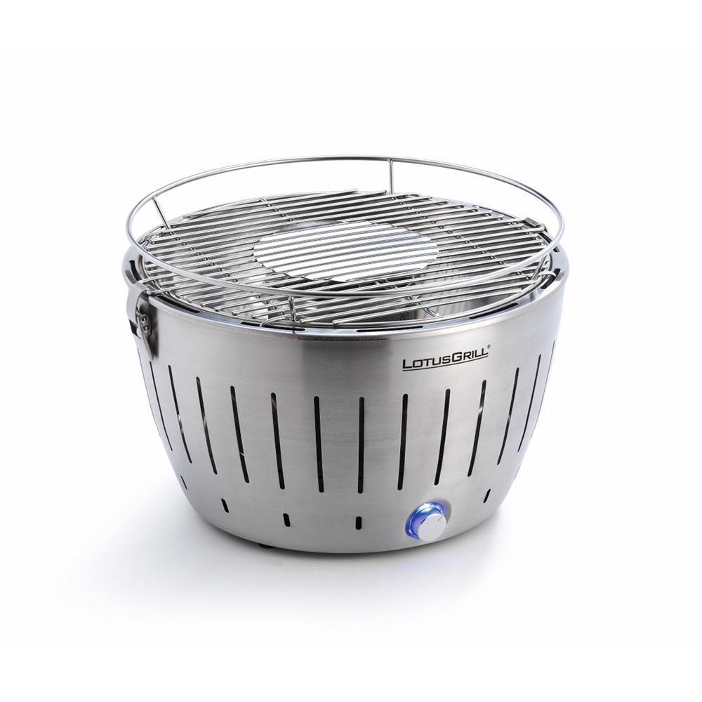 stainless steel lotus grill bbq with free fire lighter gel