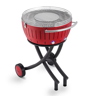 LOTUS GRILL XXL BBQ in Red with Free Fire Lighter Gel & Charcoal