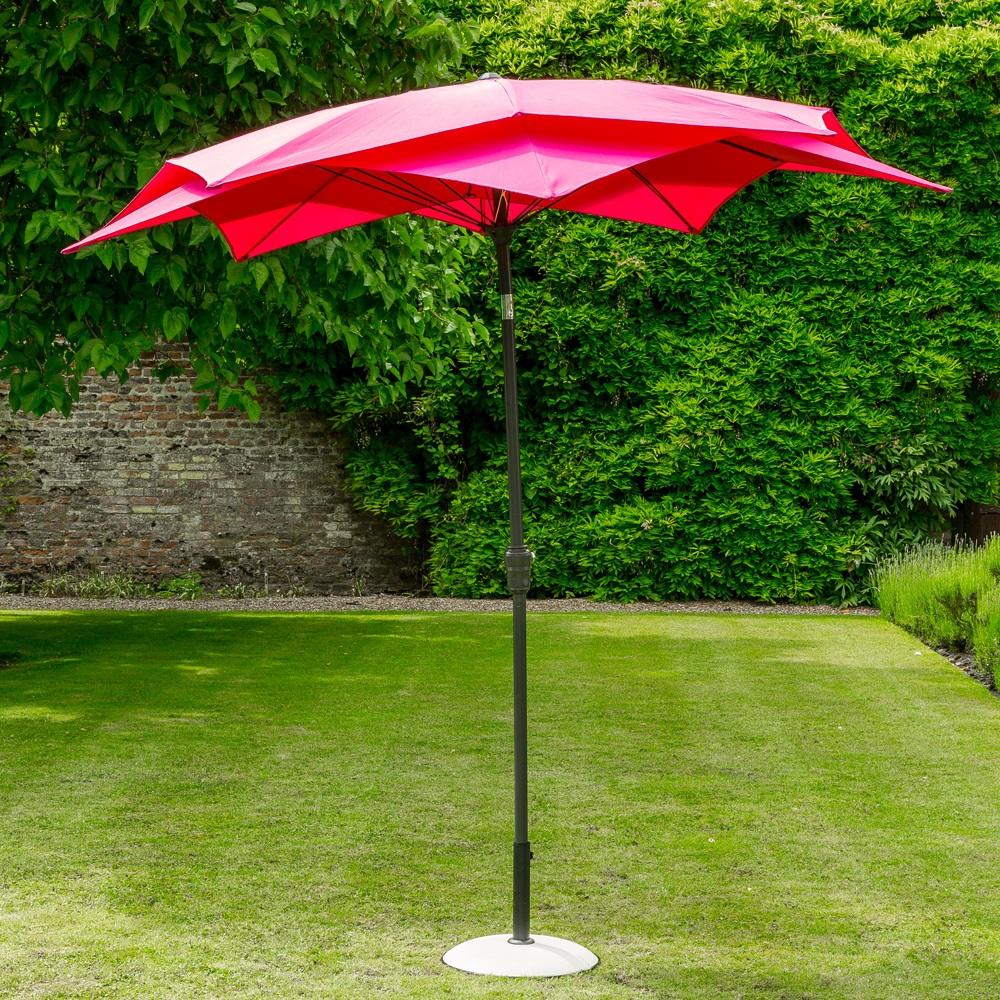 lotus garden parasol in fuchsia pink garden parasols. Black Bedroom Furniture Sets. Home Design Ideas