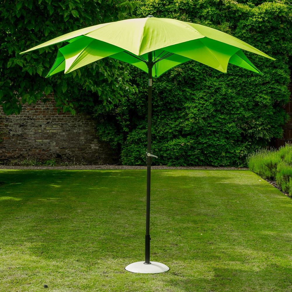 Lotus Garden Parasol In Lime Green - Garden Parasols & Bases | Cuckool