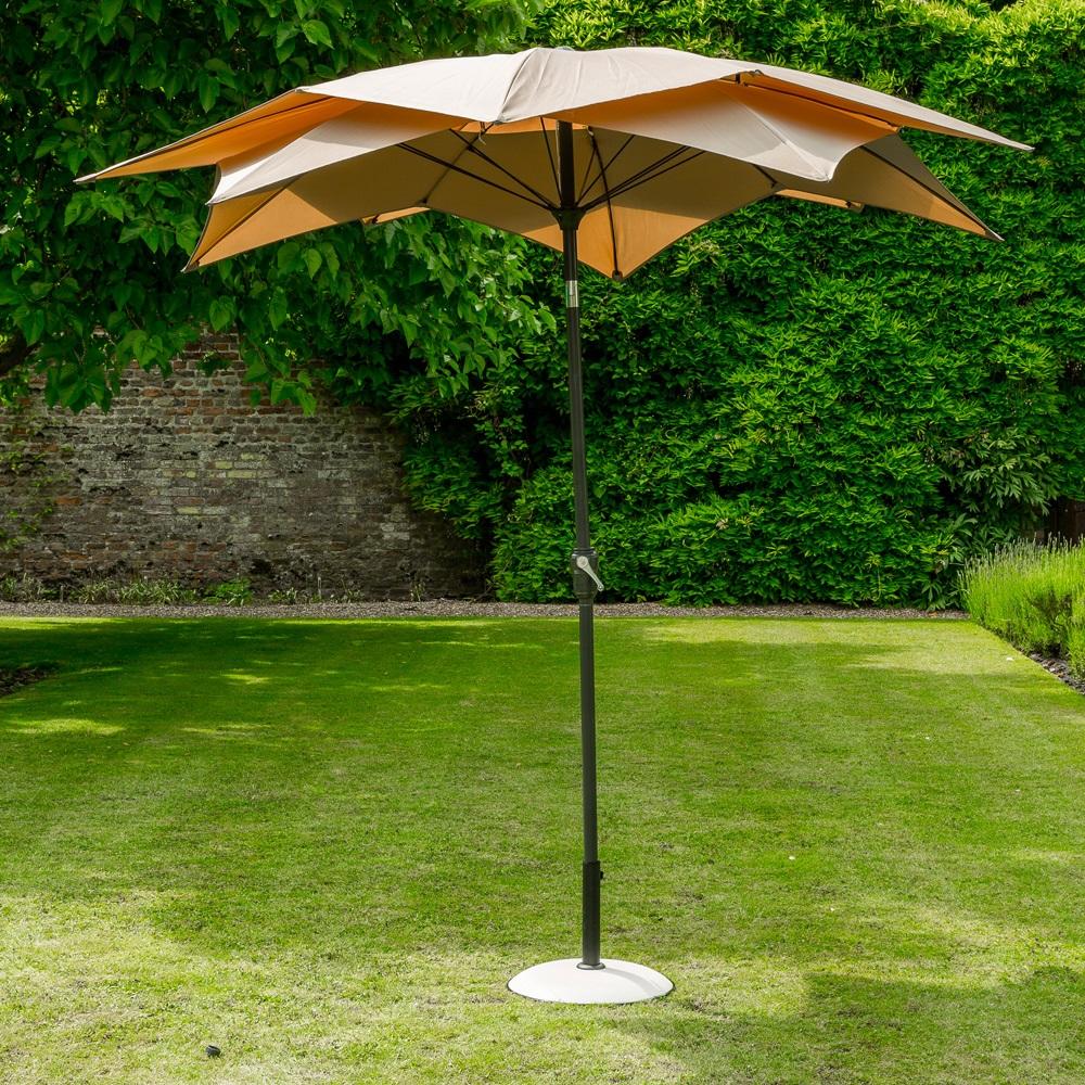 Lotus Garden Parasol In Taupe - Norfolk Leisure | Cuckooland