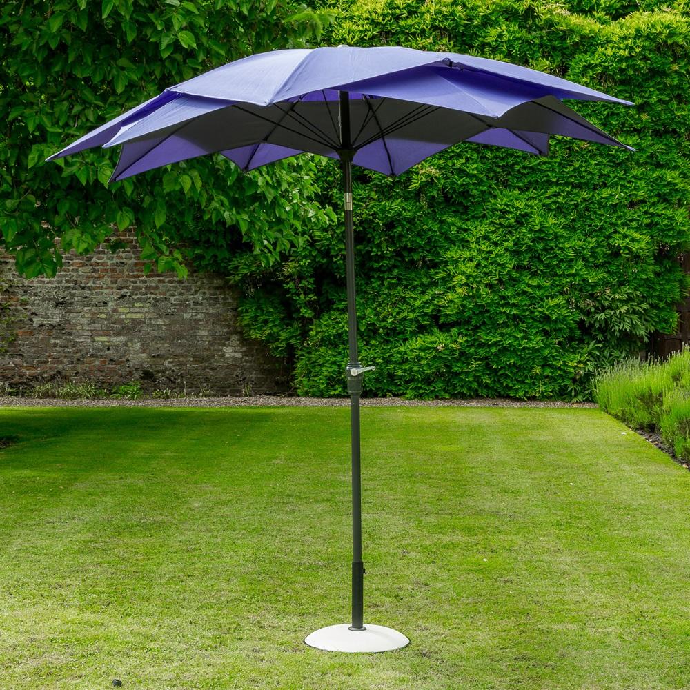 Lotus Garden Parasol In Purple - Garden Parasols & Bases | Cuckooland