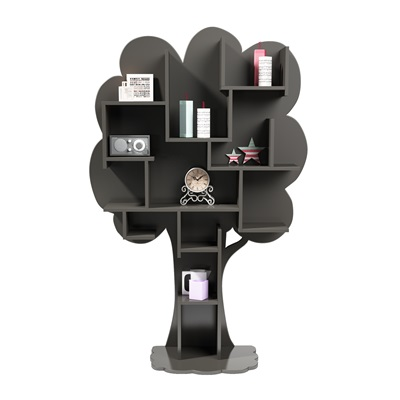 LOUANE TREE BOOKCASE in Grey