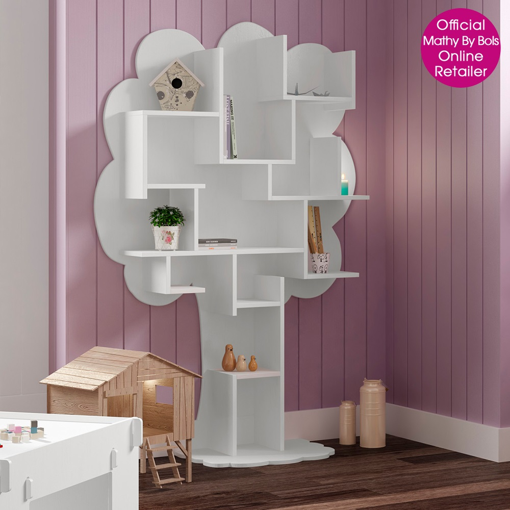 Kids Small Tree Bookcase In White