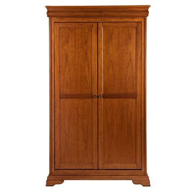 WILLIS & GAMBIER LOUIS PHILIPPE CLASSIC DOUBLE WARDROBE in Cherry Veneer