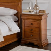 WILLIS & GAMBIER LOUIS PHILIPPE BEDSIDE TABLE with 3 Drawers