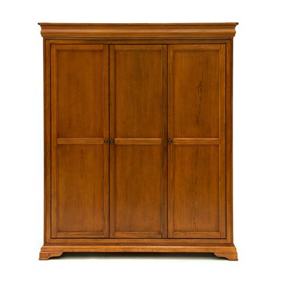 WILLIS & GAMBIER LOUIS PHILIPPE FITTED TRIPLE WARDROBE in Cherry Veneer