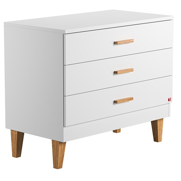 Lounge Chest of Drawers in White & Oak