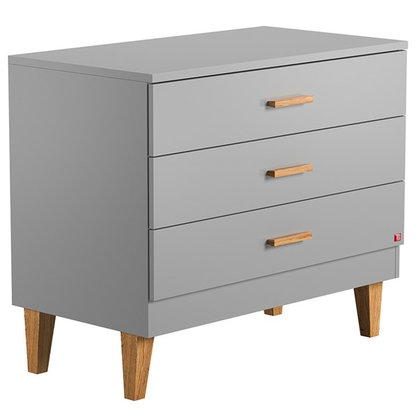 Lounge Chest of Drawers in Light Grey and Oak