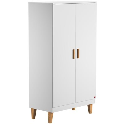 VOX LOUNGE DOUBLE WARDROBE in White & Oak