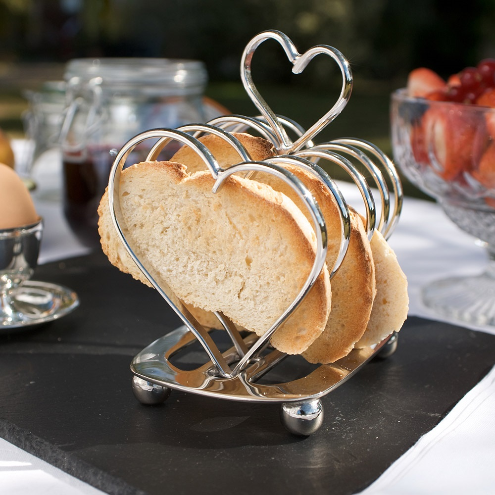 Amore Heart Toast Rack Unique Home Gifts Cuckooland