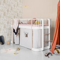 CHILDRENS LUXURY LOW LOFT BED in White & Oak