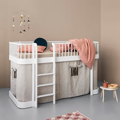 Oliver Furniture Wood Children's Low Loft Bed in White