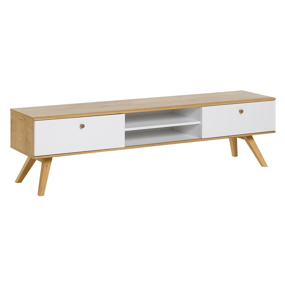 Nature Wooden Tv Stand In White Oak