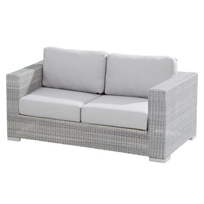 LUCCA 2 SEATER RATTAN GARDEN SOFA by 4 Seasons Outdoor