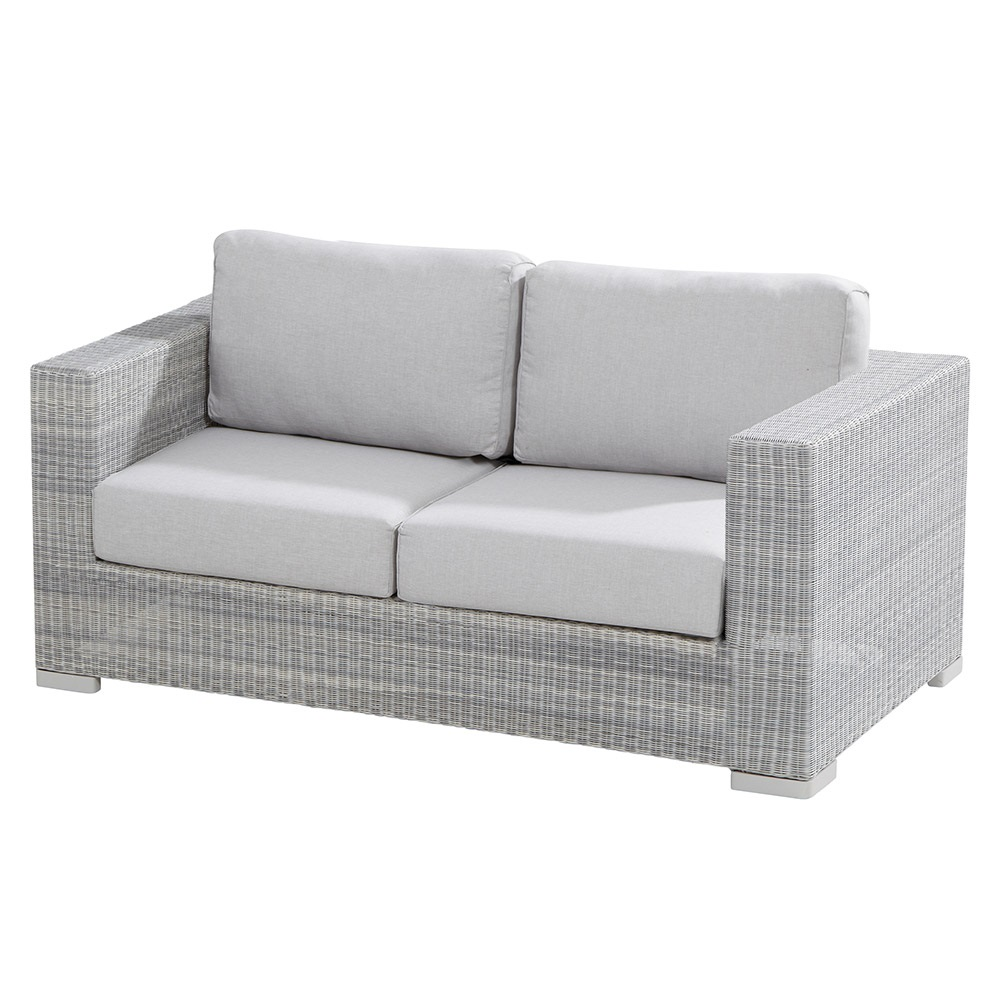 lucca 2 seater rattan garden sofa by 4 seasons outdoor 4. Black Bedroom Furniture Sets. Home Design Ideas