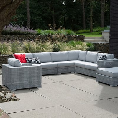 LUCCA MODULAR RATTAN CORNER SOFA by 4 Seasons Outdoor