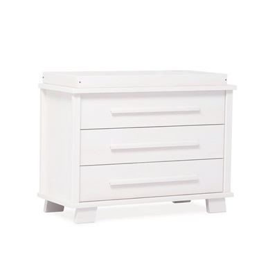 LUCIA BABY CHANGER & 3 DRAWER STORAGE CHEST in White