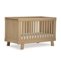 LUCIA CONVERTIBLE PLUS BABY COT & TODDLER BED in Almond