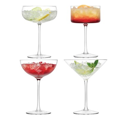 LSA LULU COCKTAIL CHAMPAGNE GLASS 4 Piece Set