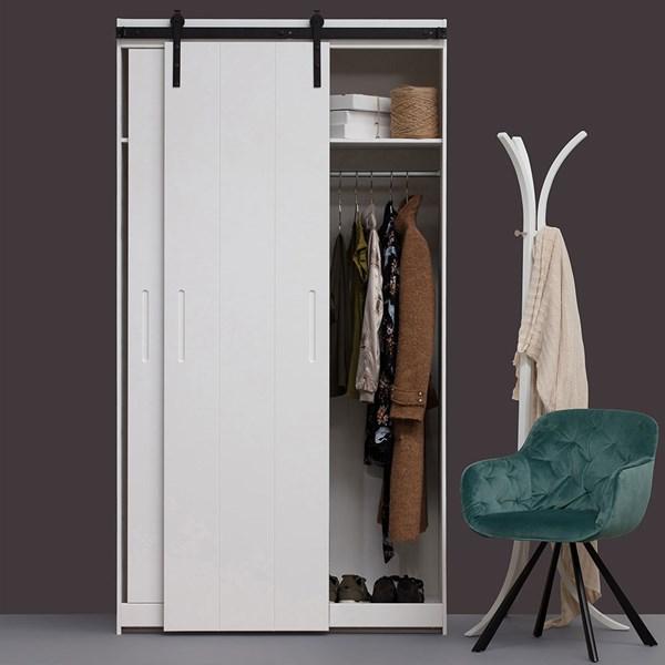Luuk 2 Door Wardrobe with Sliding Doors by Woood