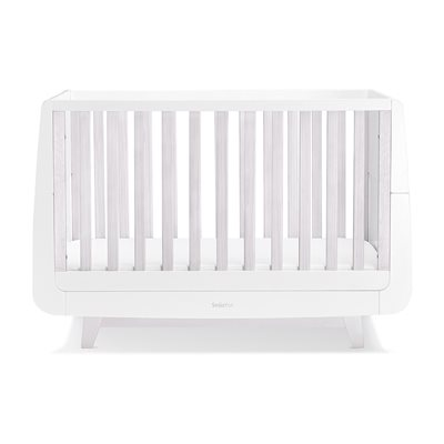 SnuzKot Luxe Cot Bed in Whitewash