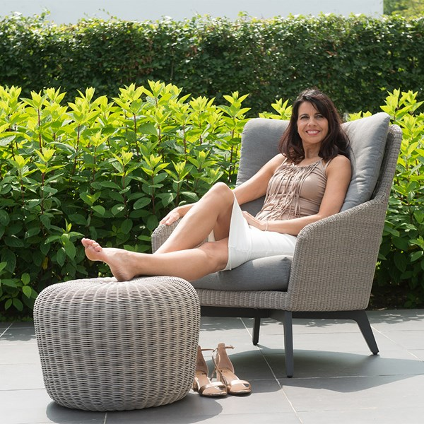 Luxor Garden Armchair with Option Footstool by 4 Seasons Outdoor