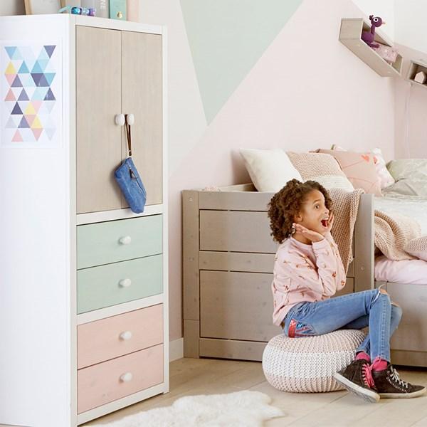 Kids Bookshelf with 3 Shelves