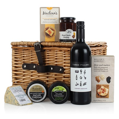 THE CHEESE AND WINE LUXURY GIFT HAMPER