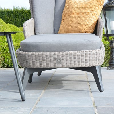 Luxury Cushioned Luxor Garden Footstool ...