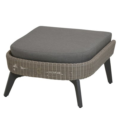 ... Luxury Cushioned Outdoor Garden Footstool ...