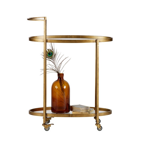 Push Drinks Trolley in Antique Brass