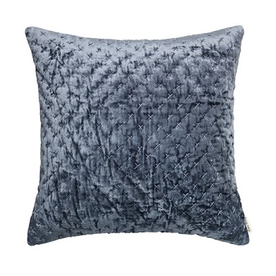 Cozy Living 50x50cm Velvet Embroidered Cushion in Ocean
