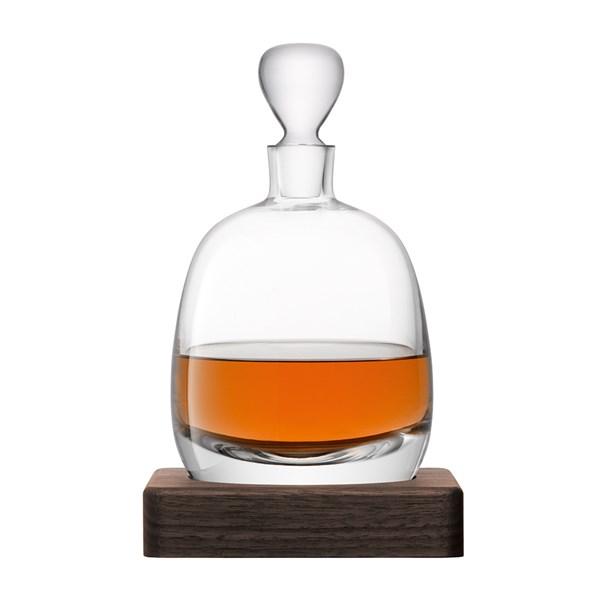 LSA International Whisky Islay Decanter with Walnut Base