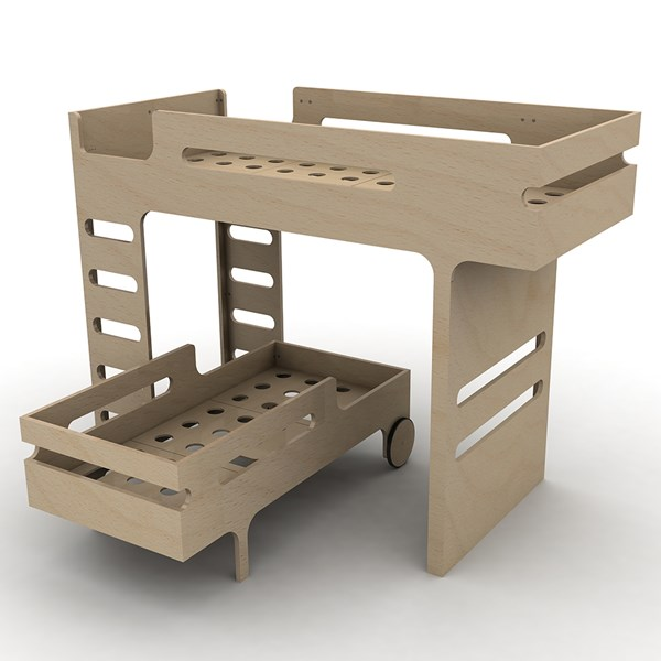 Separable Bunk Bed in Light Wood